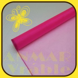 Organza 40cm  Ružová jasná