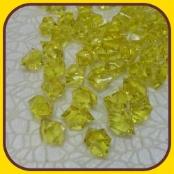 Akrylové kamienky 140g Žltá
