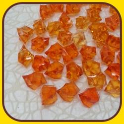 Akrylové kamienky 140g Oranžová