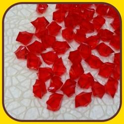 Akrylové kamienky 140g Červená