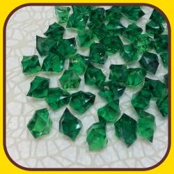 Akrylové kamienky 140g Zelená tmavá