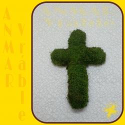 Machový veniec kríž 30cm