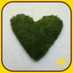 Machový veniec srdce 30cm