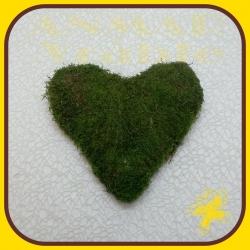 Machový veniec srdce 25cm
