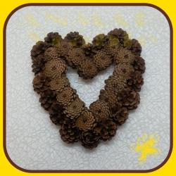 Šiškový veniec srdce 30cm