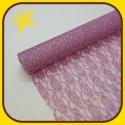 Organza čipka 48cm Ružová