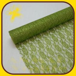Organza čipka 48cm Zelená