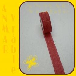 Brokát stuha 4cm Červená