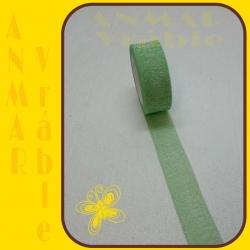 Brokát stuha 4cm Zelená