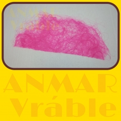 Sisal polkruh 70cm Ružová jasná