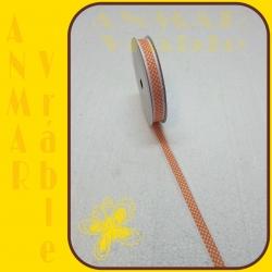 Stuha s čipkou bodka Oranžová