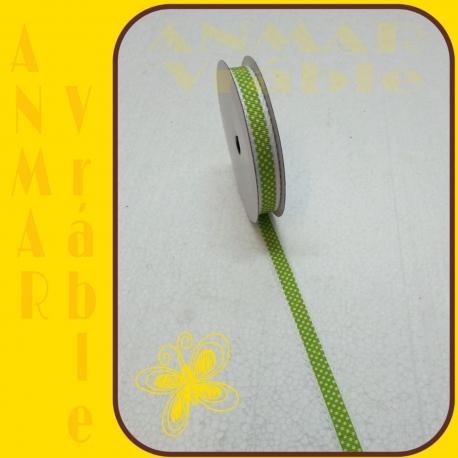 Stuha s čipkou bodka Zelená