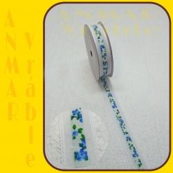 Stuha organza s čipkou Modrá