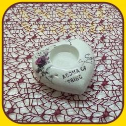 Keramické srdce na čajovku T014 - 227 - 1