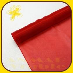 Organza perla 38cm Červená