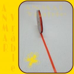 Satén stuha 0,65cm Oranžová 4