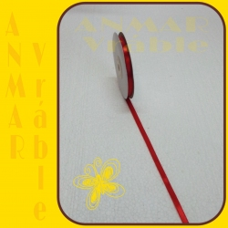 Satén stuha 0,65cm Červená 5
