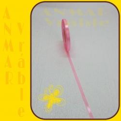 Satén stuha 0,65cm Ružová 6