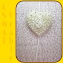 Srdce záves 22cm HY16 - 1233