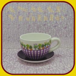 Keramický kvetináč šálka S1 - 5