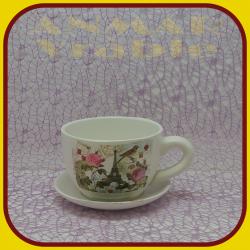 Keramický kvetináč šálka S1 - 9