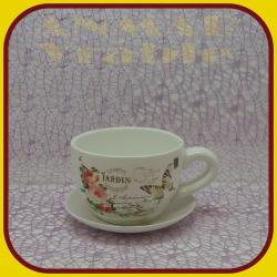 Keramický kvetináč šálka S1 - 10