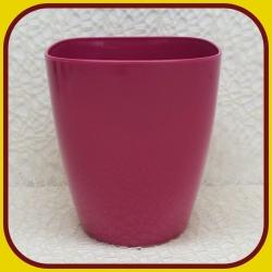Kvetináč  KVADRÁT PLAST Ružový 6