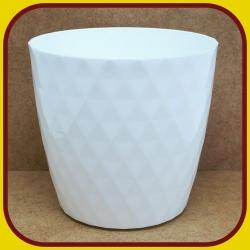 Kvetináč CRISTAL PLAST Biely 1