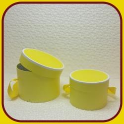 Kvetinový box okrúhly Žltý 3